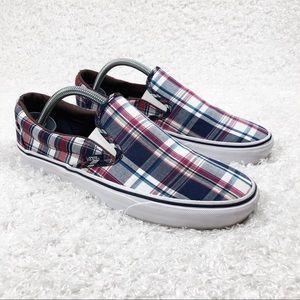 Vans Plaid Slip On Shoes